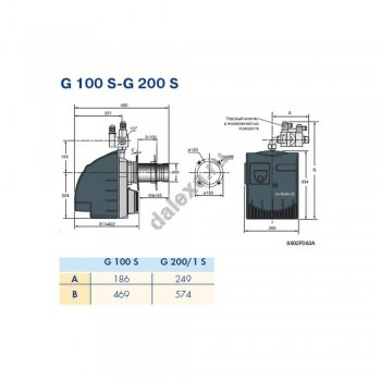 Газовая горелка De Dietrich G 303-2 S