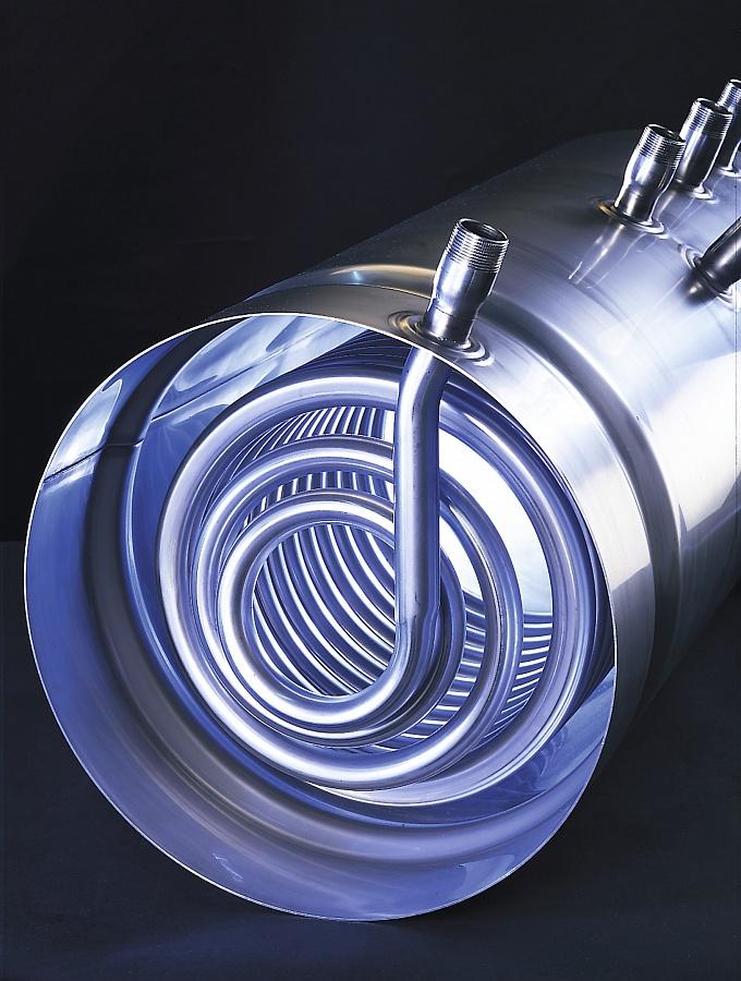 бойлер нержавеющий, водонагреватель в разрезе, чертеж, схема бойлера